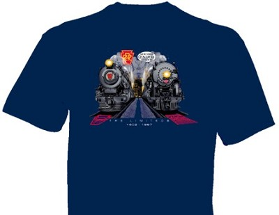 NYC 20th Cenury & PRR Broadway Limited at Night t-Shirt