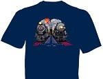 Children's sizes NYC 20th Cenury & PRR Broadway Limited at Night t-Shirt