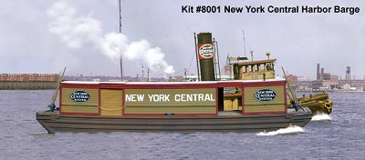 AMB HO-Scale NYC Covered Barge Kit