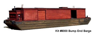 AMB  HO-Scale Bump End Barge Kit