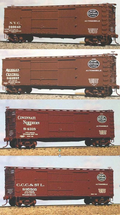 Westerfield HO-Scale NYC, MCRR, NOR, or CCC&StL, 1916 DS Auto Boxcar (Original)