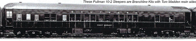 BCW HO-Scale Pullman 10-2 Plan 3584 Sleeper w/PM AC Kit