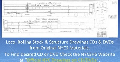NYCS Drawing Files Steam Locomotives 1 (CD/DVD) ($90.00) (Free shipping on US orders Only)