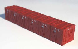 Westerfield HO-Scale LCL Containers for USRA 46' Mill Gondolas, Early Container