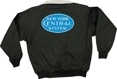 Black jacket with NYC Blue Steam Era Logo Front & Rear