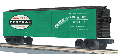 MTH O-Scale Peoria & Eastern (NYC) Boxcar (Pre-Order)