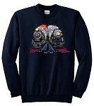 NYC 20th Cenury & PRR Broadway Limited at Night Sweatshirt (All Sizes)
