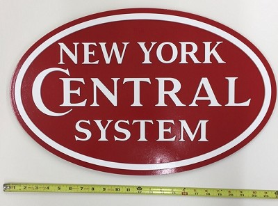 "Colorful NYC System ""Early Diesal Era"" Logo Plaque"