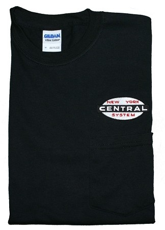 Large Size NYC Cigar Band Embroidered Pocket T-Shirts