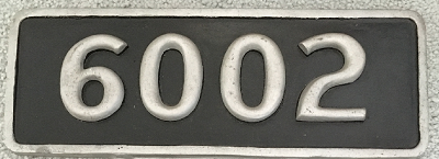 NYCS Steam Locomotive Number Plate (Number Un-Painted - Aluminum)