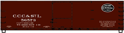 Accurail HO-Scale CCC&StL 40' Double Sheath Wood Boxcar