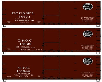 Accurail HO-Scale NYC Subsidiary 40' Double Sheath Wood Boxcars (3-Pack)