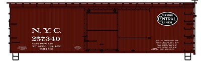 Accurail HO-Scale NYCL's Limited Run - NYCL 36' Double Sheath Wood Boxcar