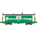 Bluford Shops N-Scale NYC Alert Safety Wherever Bay Window Caboose (Pre-Order)