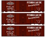Accurail HO-Scale P&LE 40' Steel Boxcar (3-Pack)