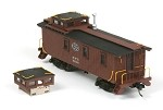 HO-Scale NYC 19000 Tongue and Groove Wood Side Caboose Kit