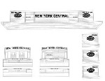 AMB Decal Set for HO-Scale NYC Covered Barge Kit   (Must Be Ordered From AMB)