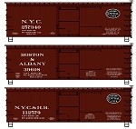 Accurail HO-Scale NYCL's Limited Run 3-Car Set - 36' Double Sheath Wood Boxcars