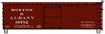 Accurail HO-Scale Boston & Albany 36' Double Sheath Wood Boxcar (Pre-Order)