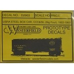 Westerfield HO-Scale Decals - USRA Steel Boxcar CCC&StL(Free shipping on US orders Only)