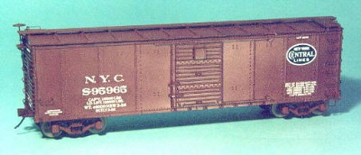 Westerfield HO-Scale NYC USRA Steel Boxcar, Dreadnaught Ends